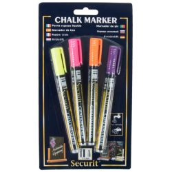Chalk Markers 1-2 mm / Set of 4 | Yellow, Pink, Orange, Violet