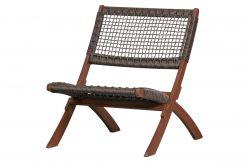 Outdoor Folding Chair Lois | Dark Brown