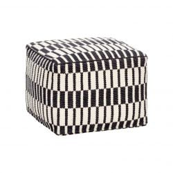 Pouf Square Cotton | Black/White