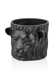 Plant Pot Lion | Black