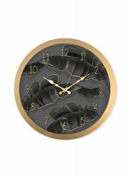Wall Clock | Black & Gold