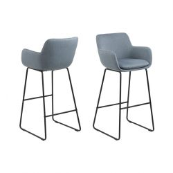 Bar Stool Asier | Set of 2 | Blue