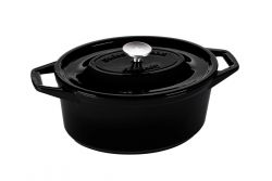 Casserole | Cast Iron | Oval 29 cm | Black