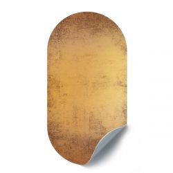 Magnetic Sticker Oval | Vintage Gold