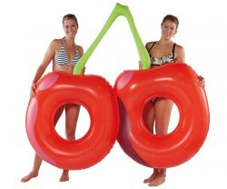 Inflatable Pool Floater Cherry 2 pers.