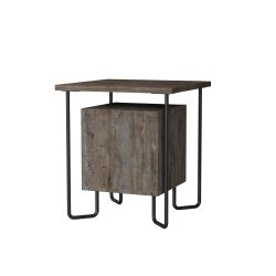 Table de Chevet Acres | Brun Foncé