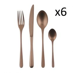 Cutlery Set of 24 Pieces Taste | Stainless Steel Vintage Copper