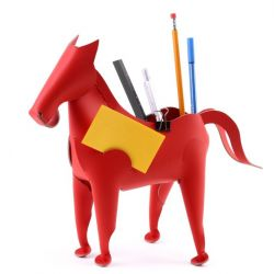 Desk Organiser Horse | Red