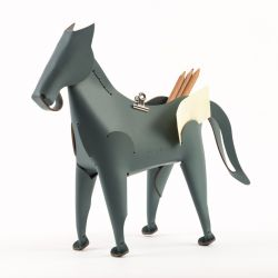 Desk Organiser Horse | Grey