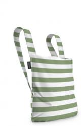 Notabag | Olivgrün/Weiß
