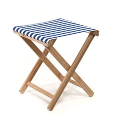 Beach Stool Striped | Blue / White