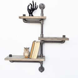 Pipe Shelf Boruraf 013 | Black