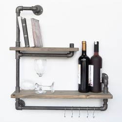 Pipe Shelf Boruraf 019 | Black