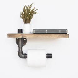 Pipe Shelf | Walnut