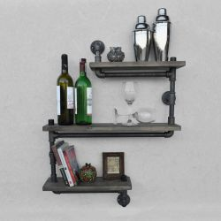 Pipe Shelf Boruraf 026 | Black