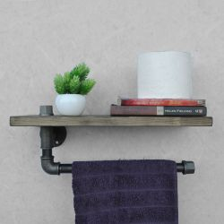 Pipe Shelf Boruraf Large | Walnut