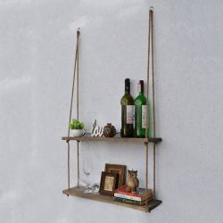 Wall Shelf Double | Walnut