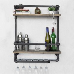 Pipe Shelf Boruraf 104 | Black