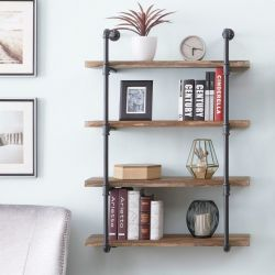 Pipe Shelf Boruraf 106 | Black