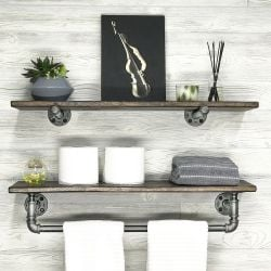 Pipe Shelf Set of 2 | Walnut
