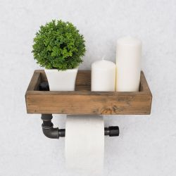 Pipe Shelf Boruraf | Walnut