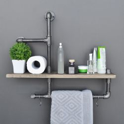 Pipe Shelf Boruraf | Black