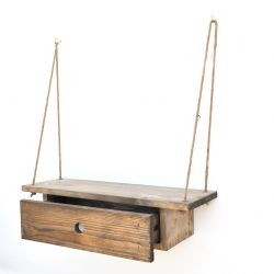 Wall Shelf Gar010 | Walnut & Black