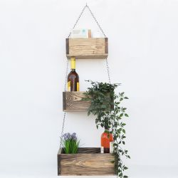 Wall Shelf with 3 Boxes