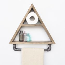 Regal mit Rohr | Dreieck