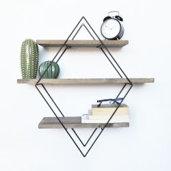 Pipe Shelf | Walnut & Metal