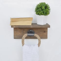 Wall Shelf Rope | Walnut