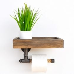 Pipe Shelf Boruraf Small | Walnut