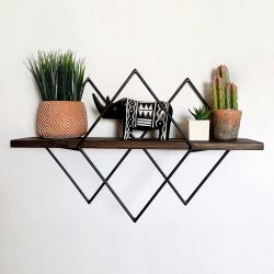 Wall Shelf Wire | Walnut