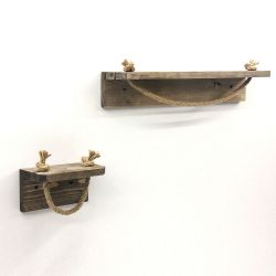 Set of 2 Pipe Hooks AA131 | Wood | Walnut