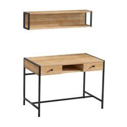 Schreibtisch Pena | Eiche-Schwarz