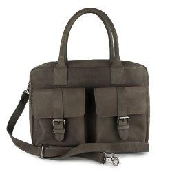 Tasche 2 Schnallen | Grau