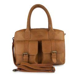Tasche 2 Schnallen | Cognac