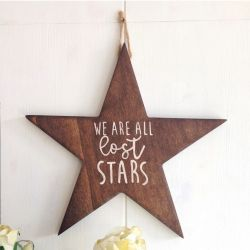Decorative Wooden Wall Accessory All Stars | Walnut