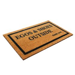 Doormat Egos & Shoes Outside  | Brown-Black