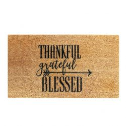 Doormat Thankful | Brown-Black
