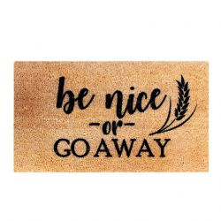 Doormat Go Away | Brown-Black