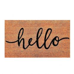 Doormat Hello | Brown-Black