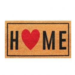 Doormat Home Heart | Brown-Black