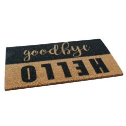 Doormat Hello Goodbye | Brown-Black
