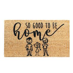 Doormat Good To Be Home | Brown-Black