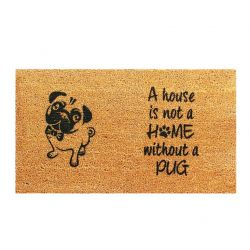 Doormat Pug | Brown-Black