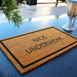 Doormat Nice Underwear  | Brown-Black