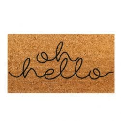 Doormat Oh Hello | Brown-Black
