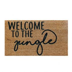 Doormat Jungle | Brown-Black