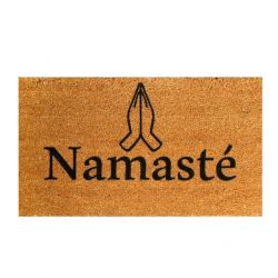 Doormat Namaste | Brown-Black